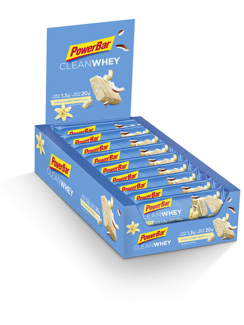 PowerBar Clean Whey - Nutrición deportiva - Vanilla Coconut Crunch 18 x 60g